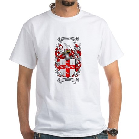 Nolan Family Crest White T-Shirt
