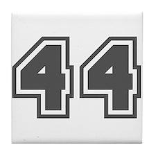 Number 44 Tile Coaster