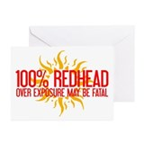 100% Redhead - Over Exposure Greeting Cards (Pk of