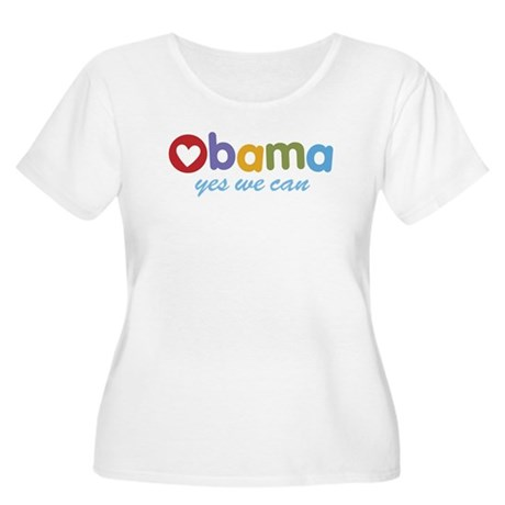 Obama Yes We Can Women's Plus Size Scoop Neck T-Sh