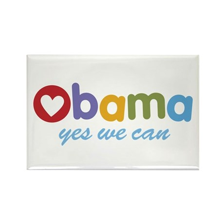 Obama Yes We Can Rectangle Magnet (100 pack)