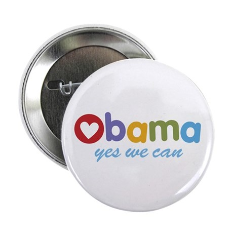 Obama Yes We Can 2.25&quot; Button (100 pack)