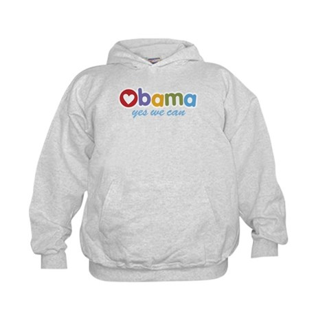 Obama Yes We Can Kids Hoodie