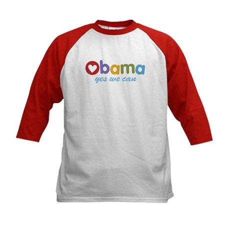 Obama Yes We Can Kids Baseball Jersey