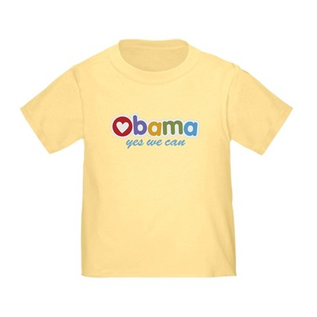 Obama Yes We Can Toddler T-Shirt