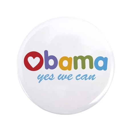 Obama Yes We Can 3.5&quot; Button