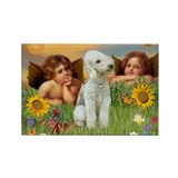 Cherubs / Bedlington Terrier Rectangle Magnet