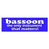 Funny Bassoon Bumper Sticker 10 pk