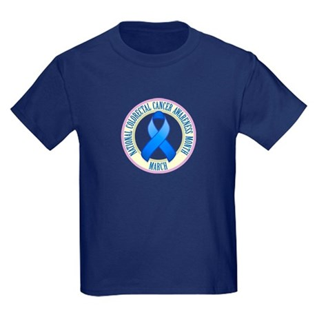 Colorectal Cancer Month Kids Dark T-Shirt