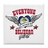 Belizean Girl Tile Coaster