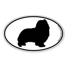 Sheltie SILHOUETTE Oval Sticker (50 pk)