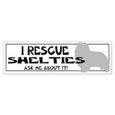 I RESCUE Shelties Bumper Sticker
