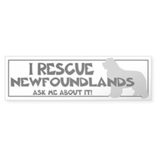 I RESCUE Newfoundlands Bumper Sticker