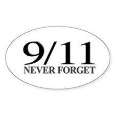 9/11 Never Forget Oval Sticker (50 pk)