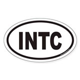 INTC Euro Oval Decal