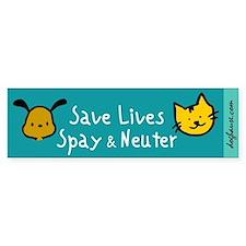 Save Lives Spay & Neuter Bumper Sticker (10 pk)