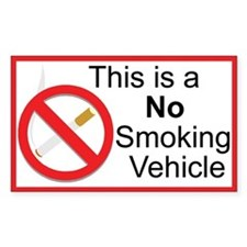 No Smoking Rectangle Sticker 50 pk)