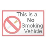 No Smoking Rectangle Sticker 10 pk)