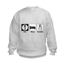 Eat. Sleep. Examine. (Eye Doctor) Sweatshirt