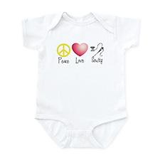 Peace, Love, Sewing Infant Bodysuit