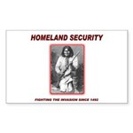 Homeland Security Geronimo Rectangle Sticker 50 p