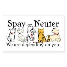 Spay or Neuter - Depending On Rectangle Sticker 1