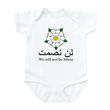 """We will not be silent"" Infant Bodysuit"