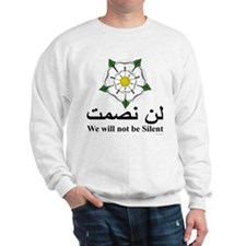 """We will not be silent"" Sweatshirt"