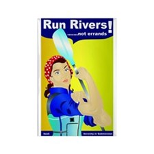 Rosie the River Runner Rectangle Magnet