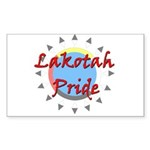 Lakotah Pride Sunburst Sticker (Rectangle 50 pk)