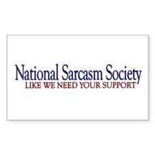 National Sarcasm Society Rectangle Sticker 10 pk)