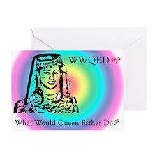 Purim Greeting Card -- WWQED Rainbow