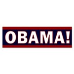 Obama! Red and Blue Bumper Sticker