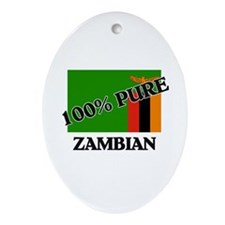 100 Percent ZAMBIAN Oval Ornament