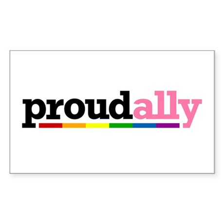 Proud Ally Rectangle Sticker 50 pk)
