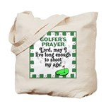 Golfer's Prayer Tote Bag