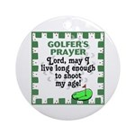 Golfer's Prayer Keepsake (Round)