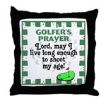 Golfer's Prayer Throw Pillow