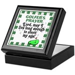 Golfer's Prayer Keepsake Box