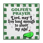 Golfer's Prayer Tile Coaster