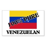 100 Percent VENEZUELAN Rectangle Decal