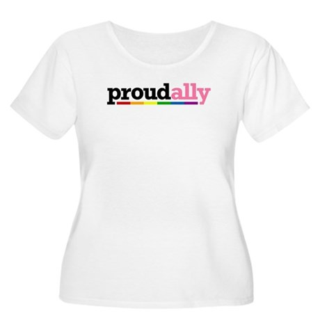 Proud Ally Women's Plus Size Scoop Neck T-Shirt