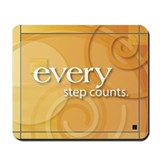 'Every Step Counts' Mousepad
