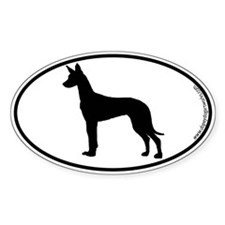 Pharaoh SILHOUETTE Oval Sticker (50 pk)