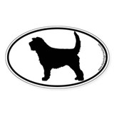 Otterhound SILHOUETTE Oval Sticker (50 pk)