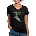BAD DAY Women's V-Neck Dark T-Shirt