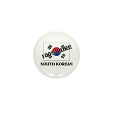 100 Percent SOUTH KOREAN Mini Button (10 pack)