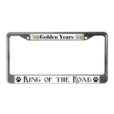 GOLDEN RETRIEVER AUTO PARTS! License Plate Frame