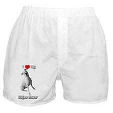 I Heart My White Boxer Boxer Shorts