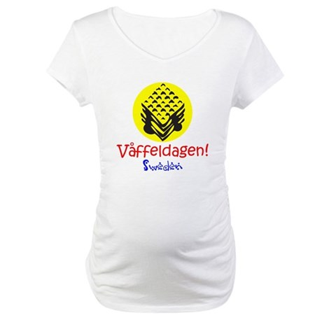 Swedish Waffle Day Maternity T-Shirt